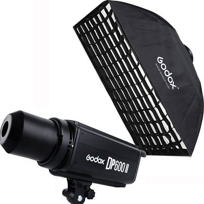 Godox DP600II 600W 2.4G Wireless Studio Flash Strobe Light + Softbox With Grid