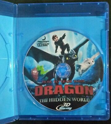 How to Train Your Dragon: The Hidden World 3D BLURAY  (no region code required )
