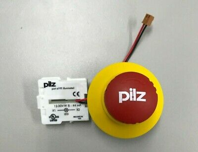 Pilz Pit Red Estop Illuminated Push Button 400102 Made In Germany