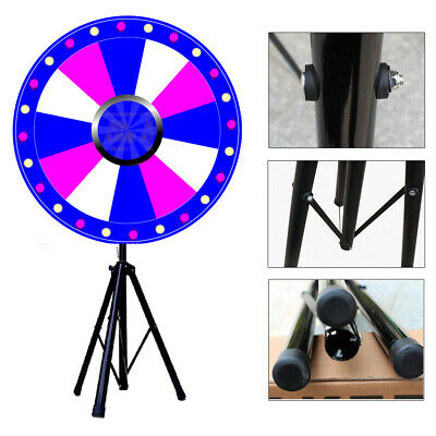 """24"""" Prize Wheel Color Dry Erase Fortune Spinning Floor Stand Win Game Party"""