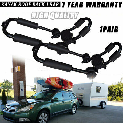 2Pc JBar Kayak Carrier Rack Top Roof Mount For Snowboard Canoe Boat On Car Truck