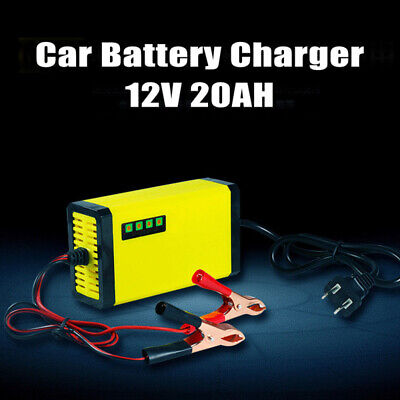 US AC110V 20AH Smart Car Battery Charger Motorcycle Automatic Maintainer T MMV