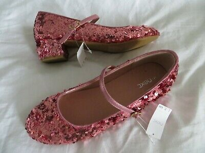 BNWT Girls Next Pink Sequin Heeled Bridesmaid Party Shoes Size 5  Eur 38