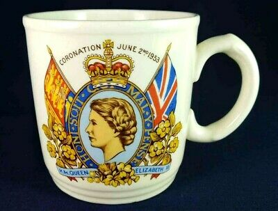 Queen Elizabeth Coronation New Hall Mug 1953