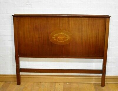 Antique inlaid double bed head board / headboard