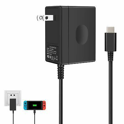 Wall Charger for Nintendo Switch, Portable AC Adapter with Power Cord Dock/Pro