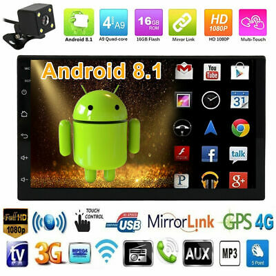 Android 8.1 Bluetooth 2Din Auto Radio Stereo Mp5 Player Wifi Gps 1G 4 Core*1.3G