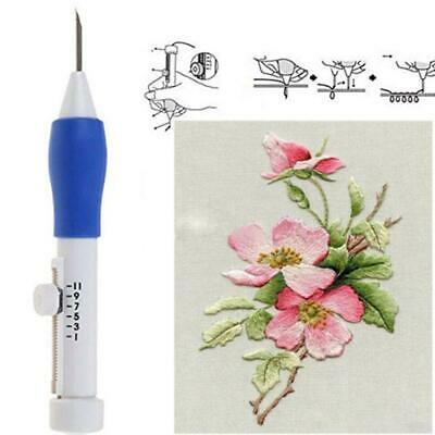 Embroidery Stitching Needle Threader Pen Punch Tool for Sewing