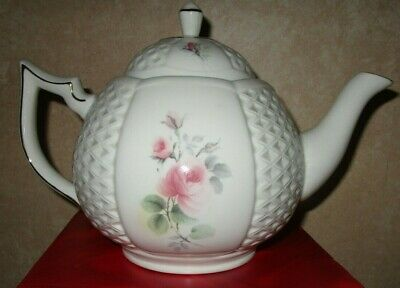 Donegal Parian China Ireland Floral Roses  NEW IN BOX COFFEE TEAPOT