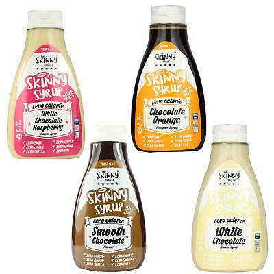 Skinny Food Zero Calories Chocoholic Syrup Pack White Chocolate Raspberry Orange