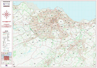 Postcode City Sector Map - Edinburgh