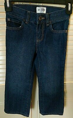 Boys The Childrens Place Jeans Blue Darkwash Adjustable Waistband Size 4 (1051