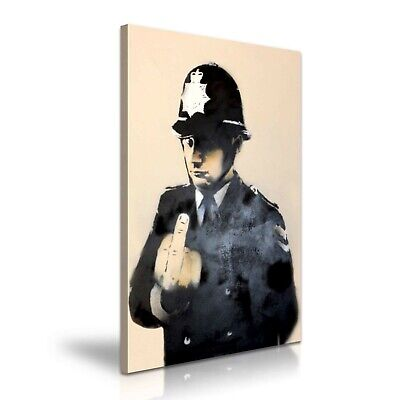 Banksy Rude Copper Home Office Canvas Art ~ 5 Sizes To Choose