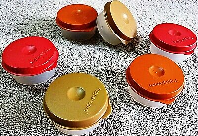 Tupperware - SMIDGETS 30ml MINI containers, Chocolaty lid & sheer base, see-thru