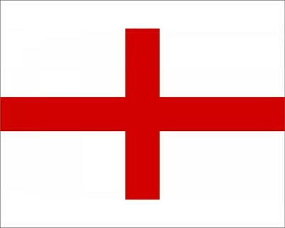 """19067973 10""""x8"""" (25x20cm) Print The Flag of England with a white..."""
