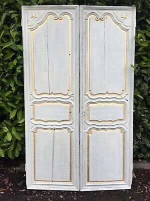 Genuine Antique French Armoire Doors - Gold Leaf Detail