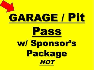 DAYTONA 500 - NASCAR Team Package...Race Week Hot Garage, Pits, Decal and more!