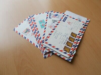 South Korea - Collection of 17 Airmail Covers. See Pics for Details.