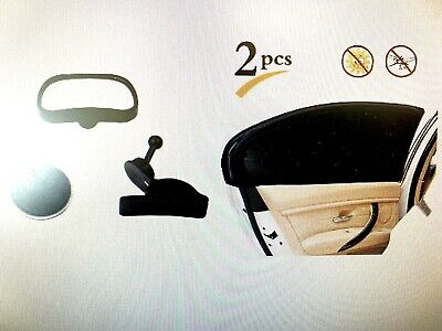 Baby Rear View Mirror Car Seat & 2 Pk Car Window Sun Shade Screen Cover