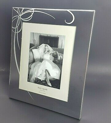 """Kate Spade NY by LENOX 8"""" x 10"""" Belle Boulevard Mirror Picture Frame Silverplate"""