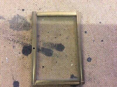 "Vintage Brass Carriage Clock Case Door 2.75"" X 4"""