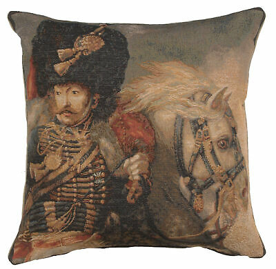 Officer of the Guard French Decorative Tapestry Cushion