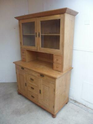 A Beautifully Waxed Large Antique/Old Pine Kitchen Dresser