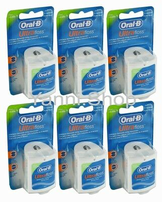 Oral-B Ultra Floss (Dental Floss), 6-pack, (6 x 25 m / 6 x 27 yards)