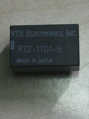 R72-11D1-5 Subminiature, DPDT, 1 Amp Relay  NTE Electronics