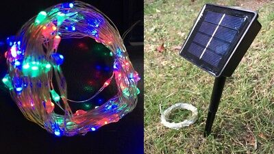 100 LED RGB Lightweight 10m Solar String Fairy Lights with 8 modes!