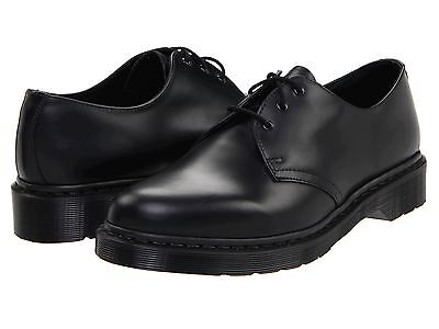 Men's Shoes Dr. Martens 1461 Mono 3 Eye Leather Oxfords 14345001 BLACK SMOOTH