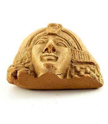 Amazing Ancient Egyptian Queen Nefertari Head Sculpture Rare Antique Figurine