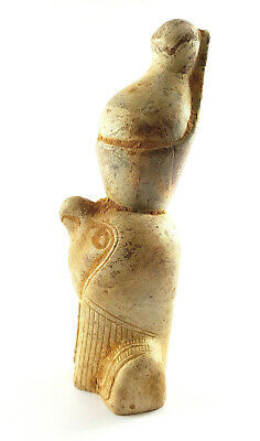 Very Rare Egyptian Horus Figurine Ancient Civilisation Falcon Statue Amulet