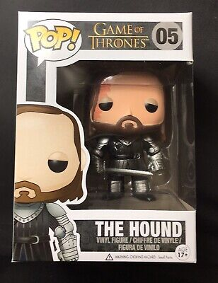 Funko Pop Game of Thrones The Hound #05 Vaulted Rare w/ Protector
