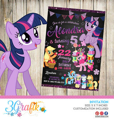 MY LITTLE PONY Party Invitation Personalized Custom You Print