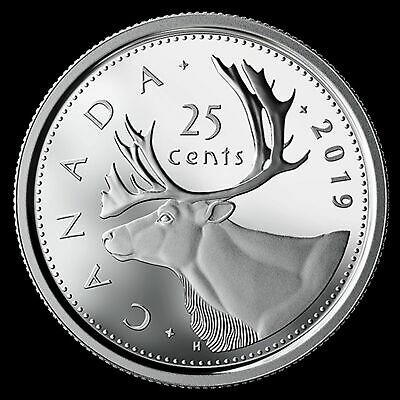 2019 Canada Classic design proof finish 25 cent quarter 99.99% silver - from set