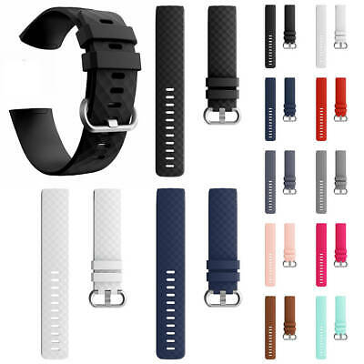 Handmade Silicone Replacement Watch Bands Wrist Strap For Fitbit Charge 3 Pebble