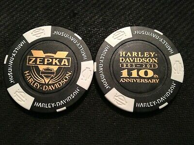 "Harley Poker Golf Marker (110 ANNIVERSARY) ""Zepka"" Johnstown Pennsylvania"