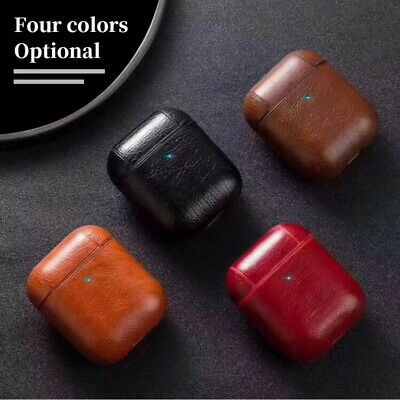 Genuine Leather AirPods Earphone Protective Case Cover For Apple AirPods Pro 1 2
