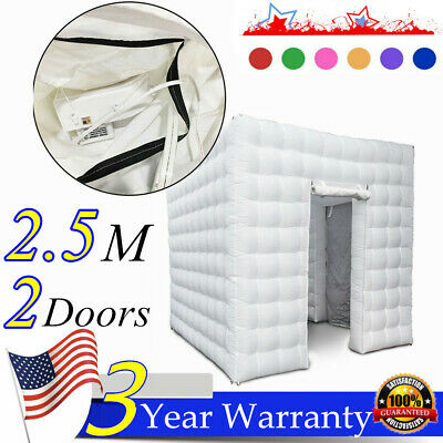 Inflatable Cube Photo Booth Air Tent w/ LED Lights & Blower 2.8x3x2.8m US STOCK