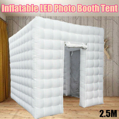 Inflatable LED Light Photo Booth Air Tent Wedding Party Christmas 2.5M Cube USA