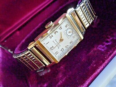 Very Clean Vintage 1951 Men's Bulova Excellency 21 Jewel Cal 7AA Watch w/ Box