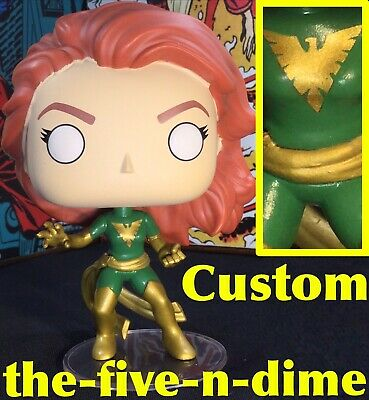 b84da8b26 Funko Pop Uncanny X-Men Custom Dark Phoenix Green Suit Jean Grey 422 Figure