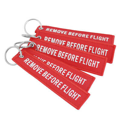 Bag Fabric Key Ring Keyring Remove Before Flight Keychain Pilot Crew Tag Luggage