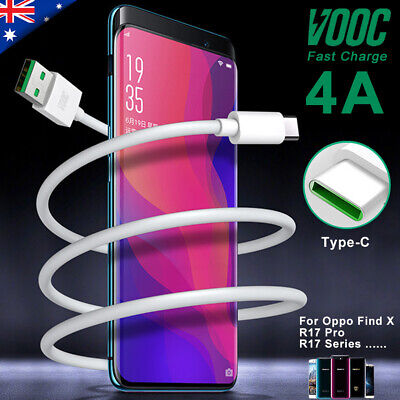 Genuine OPPO Original  R17 Pro Find X  VOOC Charger Charging Cable Type-C USB-C