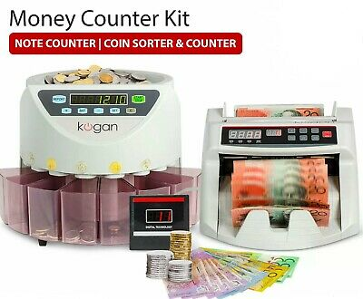 Counterfeit Money Detector Machine Kit Automatic Counting Notes Bills Cash Coins