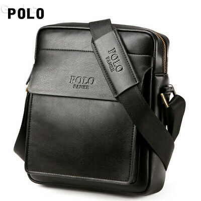 Man Leather Bag Polo Messenger Corssbody Shoulder Apple Mini iPad Travel Bags AU