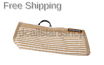 Dingo Gear Hard Jute Cover for Bite Protection Sleeves Handmade with a Handle...