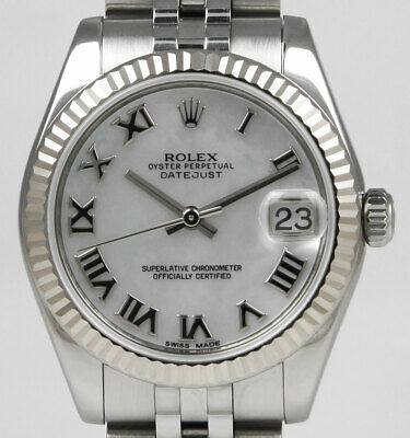 Rolex Oyster Perpetual DateJust 178274 - 31mm With White MOP Roman Dial (2013)