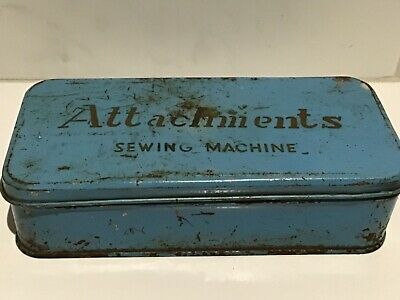 Vintage Sewing Machine Attachment Tin